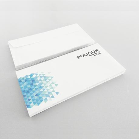 Enveloppes Personnalisées 110x230 mm. sans fenêtre recto seulement