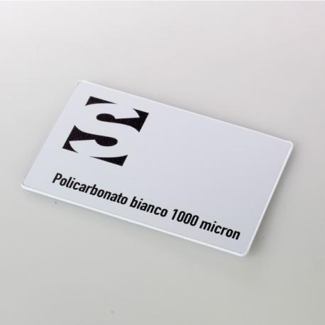 Carte de visite - carte en polycarbonate blanc