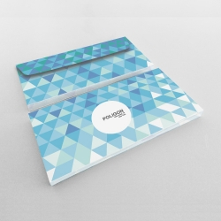 Enveloppes couleur recto et verso
