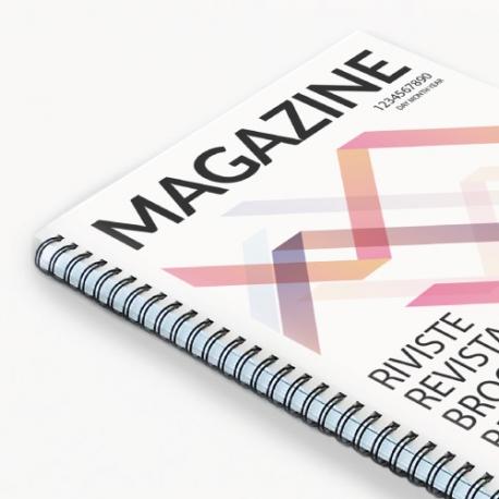 Brochure couverture 170g intérieur 115g - reliure avec spirale