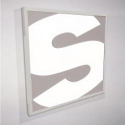 Enseigne lumineuse en aluminium découpé