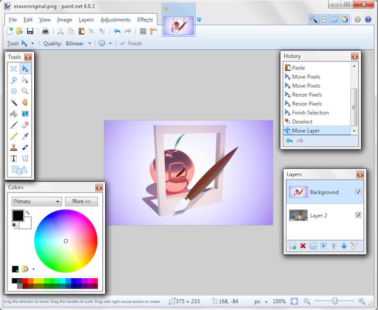 capture d'écran-paintnet