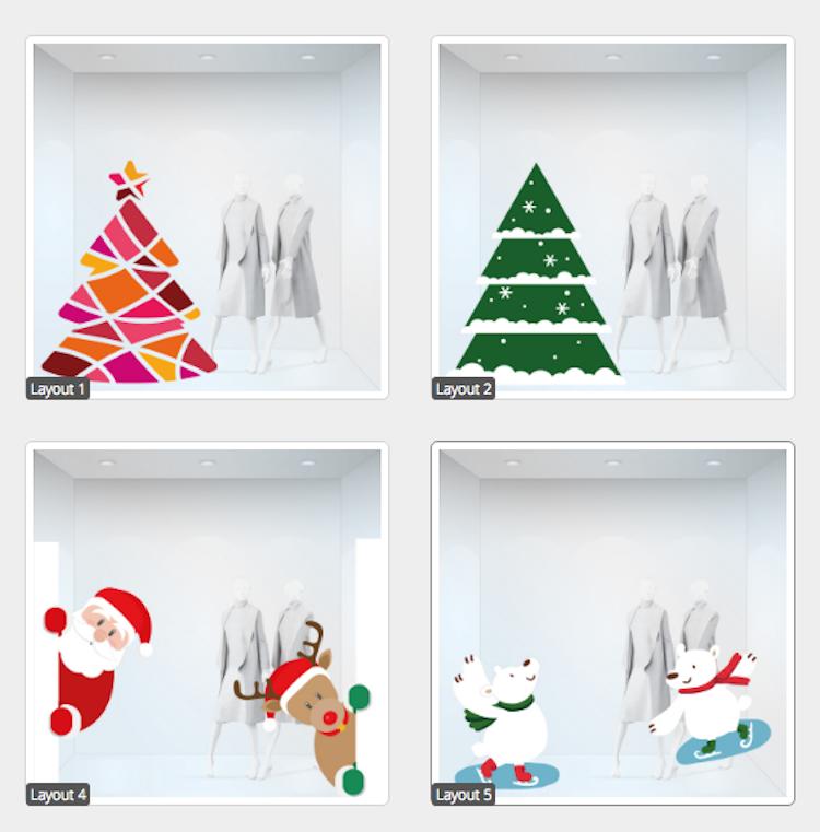 Vitrophanies de Noël: rendre unique votre magasin et votre maison - Stampaprint Blog FR