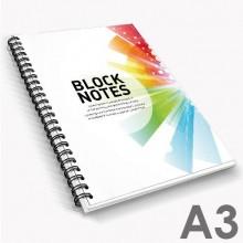 Bloc-notes avec reliure à spirale A3