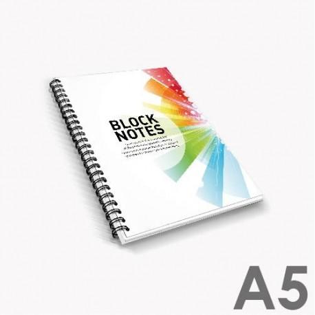 Bloc-notes avec reliure à spirale A5