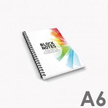 Bloc-notes avec reliure à spirale A6