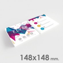 Flyers 148x148 mm.