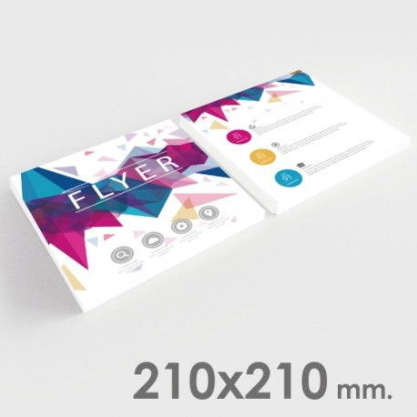 Flyers 210x210 mm.