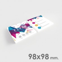 Flyers 98x98 mm.