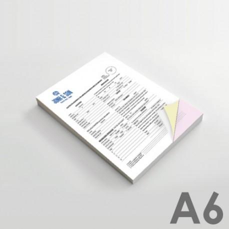 Carnets & Liasses autocopiantes Format A6