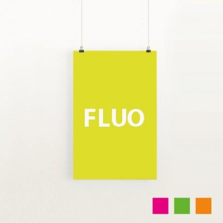 Affiches avec papier fluorescent
