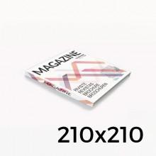 Format 210x210 - reliure en dos collé