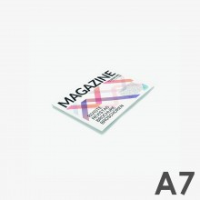 Format A7 horizontal - reliure agrafée