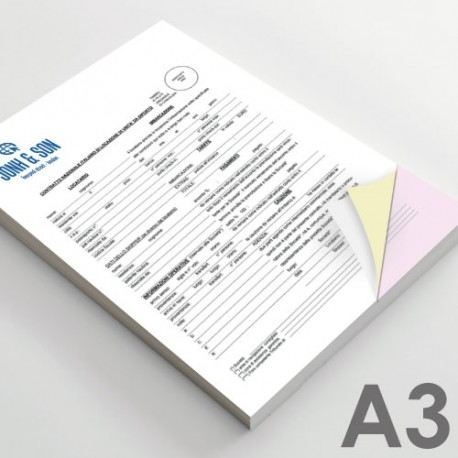Carnets & Liasses autocopiants Format A3