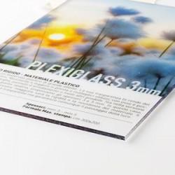 Panneau plexiglas transparent 3 mm panneau publicitaire - Comment couper du plexiglas ...