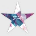 étoile étoile 17 x 17 Couché 4/4 couleurs 300